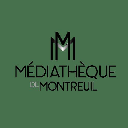 Logotype médiathèque de Montreuil NB par Claire PéhO
