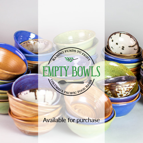 Empty bowls food bank fundraiser