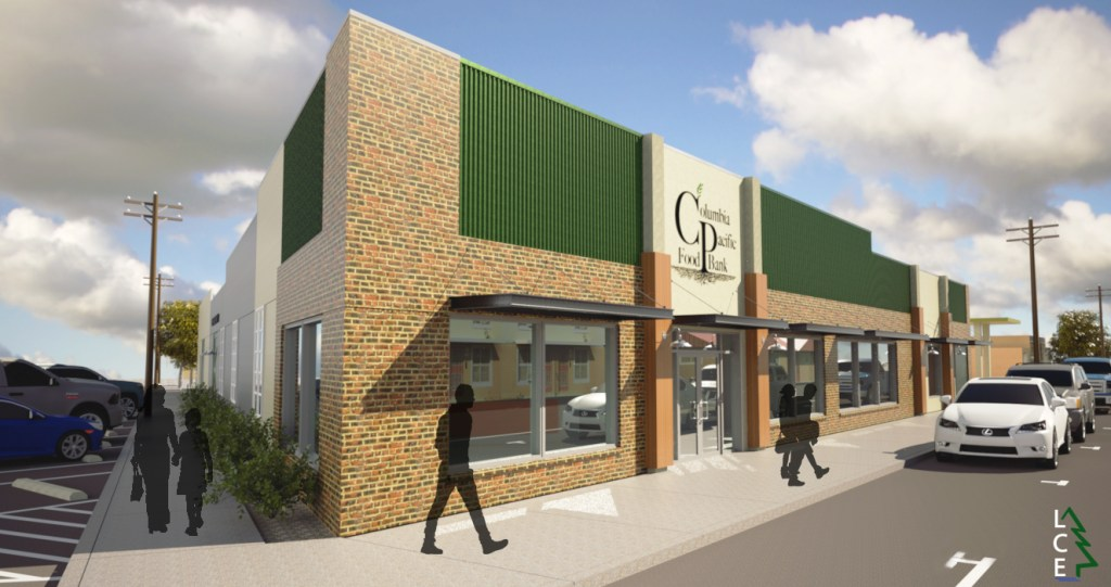 Artist rendering of our new building Food bank