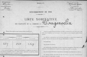 Recensement de Plougonvelin (29) année 1901 en ligne