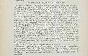 Décision du Conseil Général de la Meuse en 1882 concernant les abattoirs
