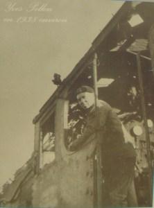 Yves Pellen sur sa locomotive