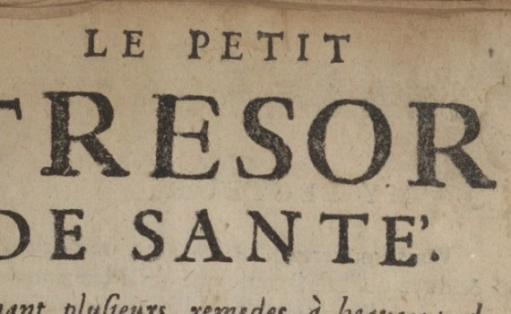 Le petit trésor de santé titre 1700