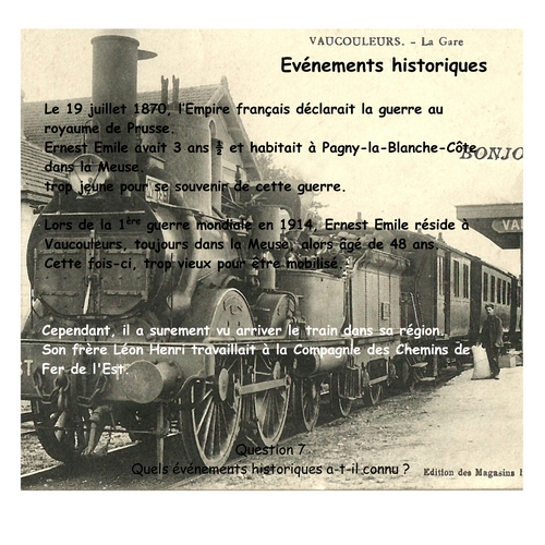 HARROY Ernest Emile Evenements
