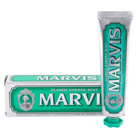Grøn Marvis tandpasta
