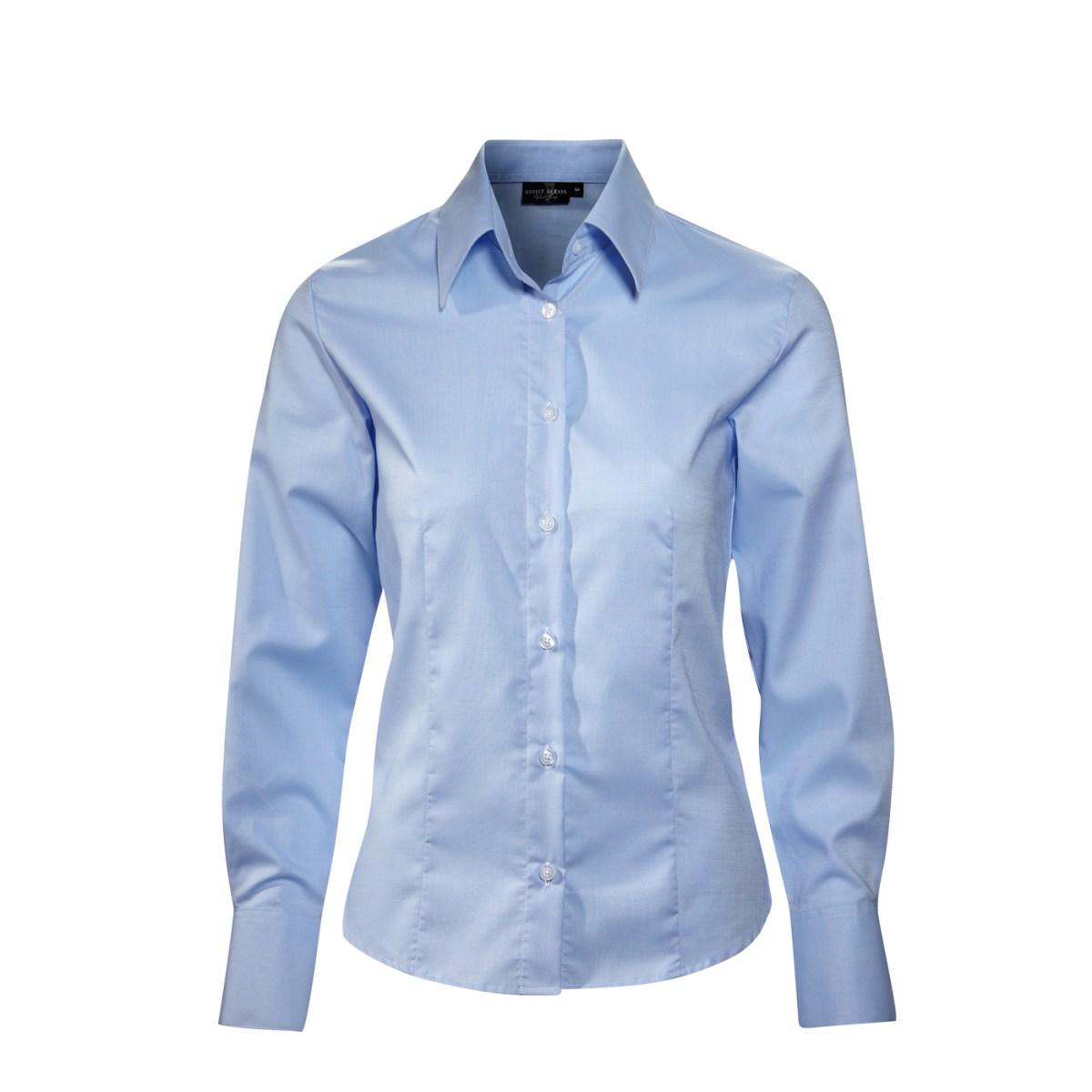 Ernst Alexis easycare blå dameskjorte