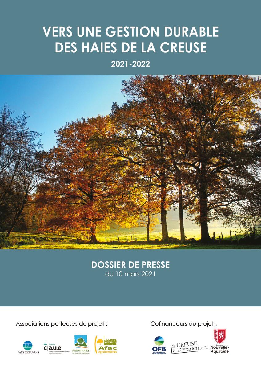 thumbnail of Dossier de presse_Vers une gestion durable des haies de la Creuse _Leger