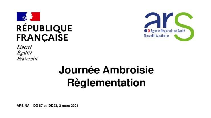 Journée Ambroisie - Réglementation