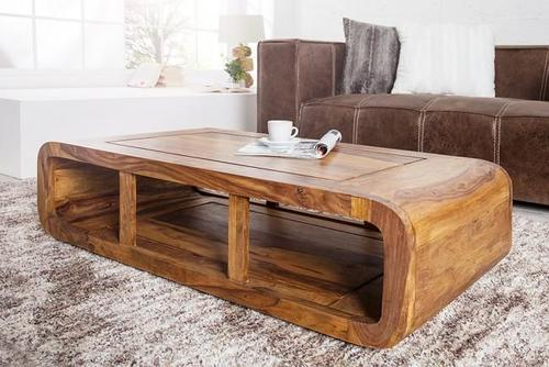 wooden center table curving star