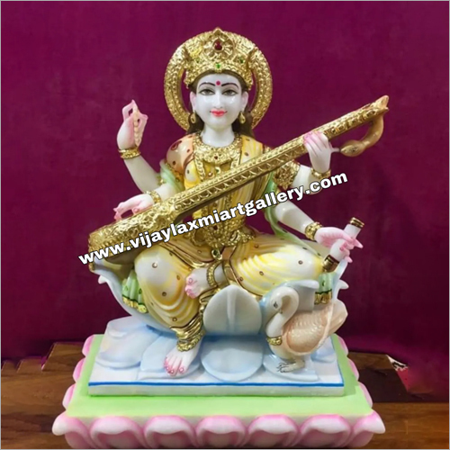 Marble Saraswati Mata Statue At Price Range 12000 00 55000 00 Inr Piece In Jaipur Vijay Laxmi Art Gallery