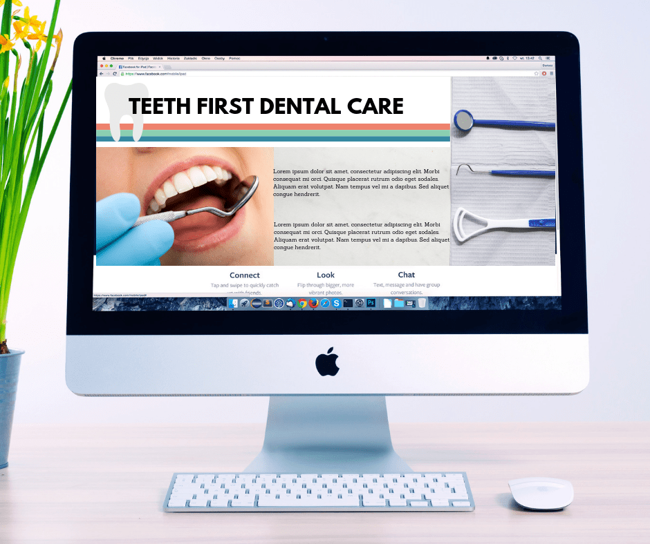 Dental website on Desktop computer