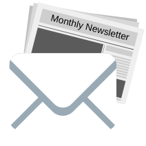 Email with monthly newsletter