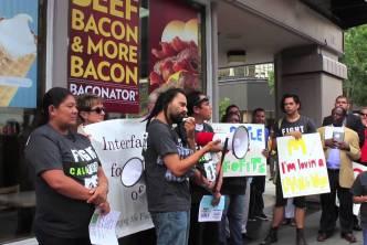Fast Food Strike San Diego Aug 29, 2013