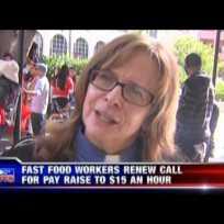 Fast-Food Strike Downtown San Diego (December 4, 2014) KUSI TV 5pm