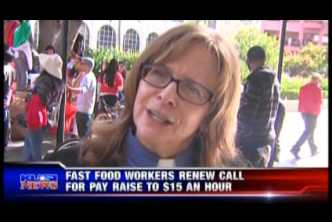 Fast-Food Strike Downtown San Diego (December 4, 2014) KUSI TV 5pm