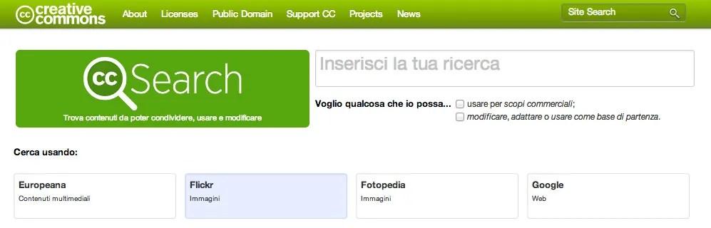 Motore di ricerca Creative Commons