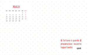 Calendario desktop scaricabile – Marzo