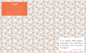 Calendario desktop scaricabile – Maggio