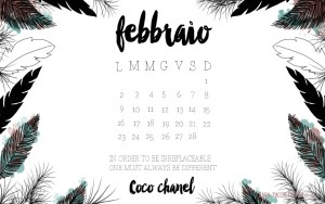 Calendario desktop scaricabile Febbraio 2015