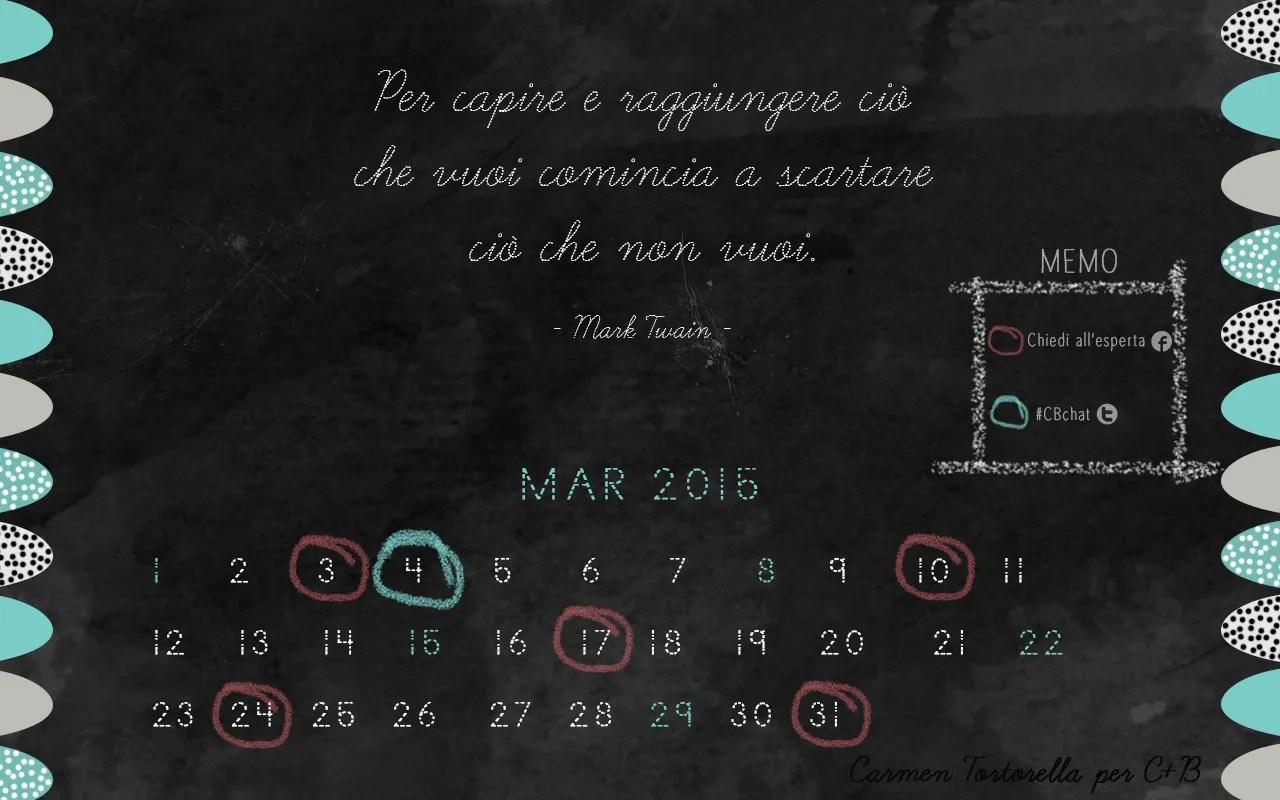 Calendario desktop marzo 2015 di Carmen Tortorella
