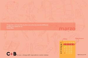 Calendario desktop scaricabile Marzo 2015