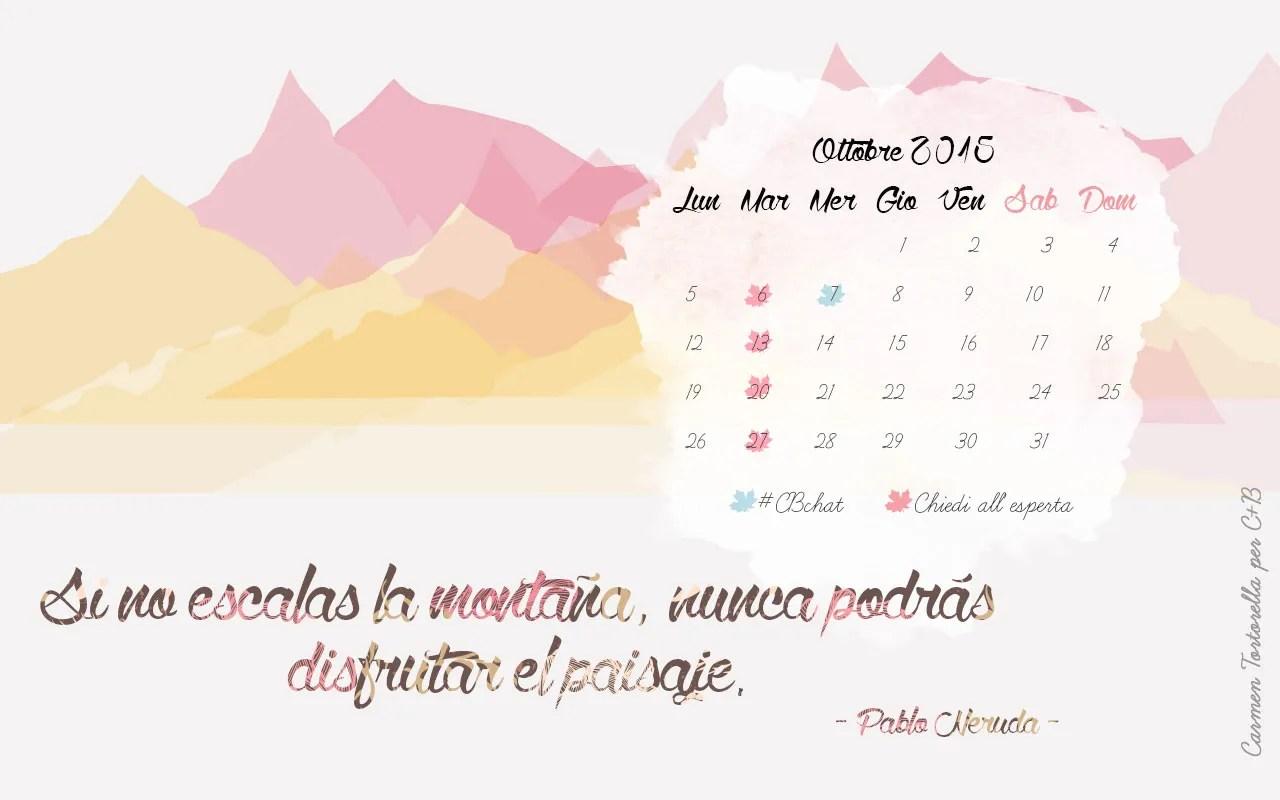 Carmen Tortorella - Calendario Desktop Ottobre 2015 - 1280x800