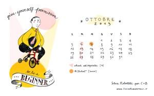 Calendario desktop scaricabile ottobre 2015
