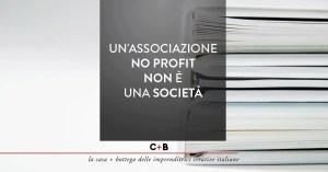 Un'associazione no profit non è una società