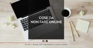 Cose da non fare online