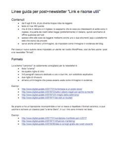 Indicazioni per la scrittura dei post di Digital Update