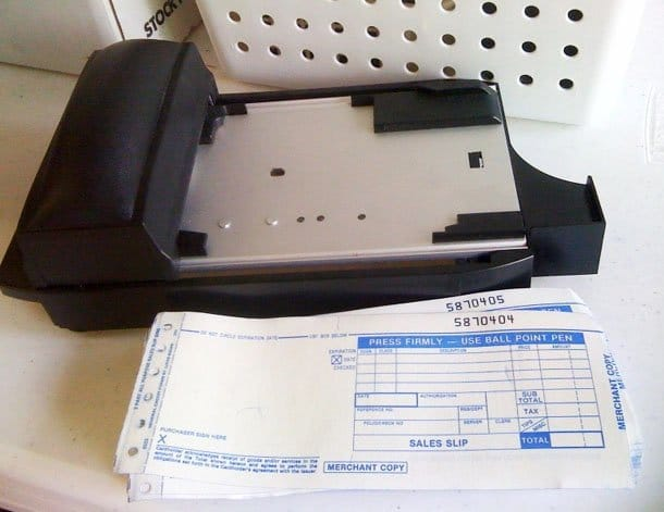Can I use a manual credit card machine?