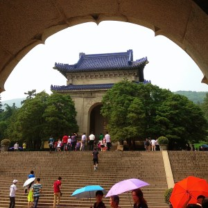 Arch and Umbrellas by Christopher Long