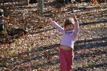 Hannah Dancing in Woods
