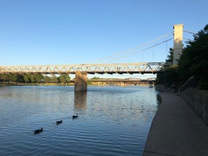 Waco Suspension Bridge with Ducks
