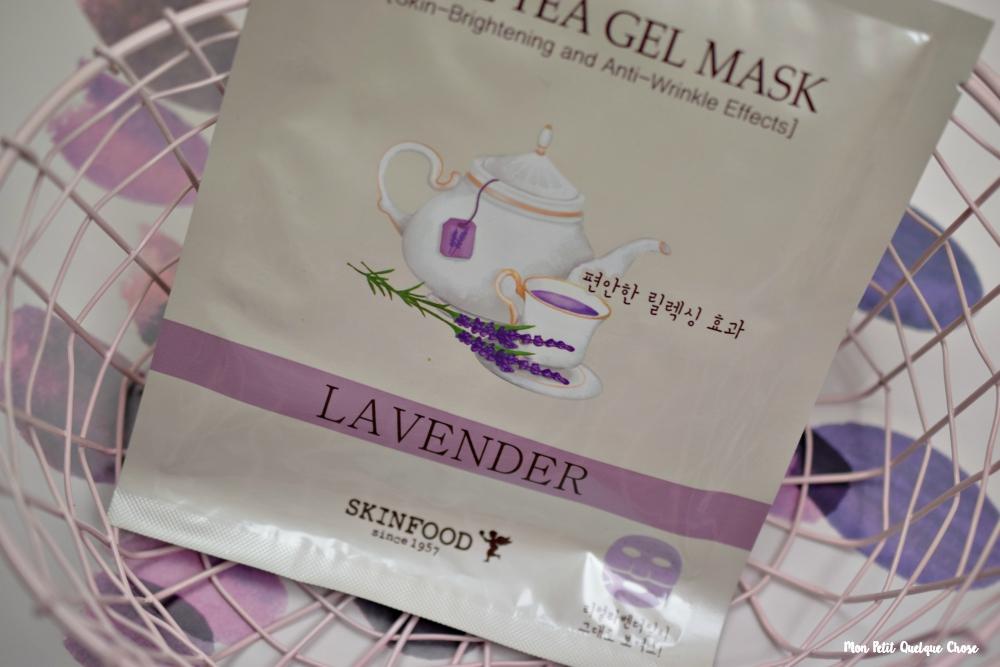 Real Tea Gel Mask de SKINFOOD - Lavender - Mon Petit Quelque Chose