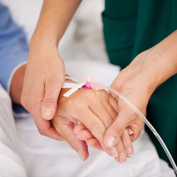 Man receiving IV Drip Treatment