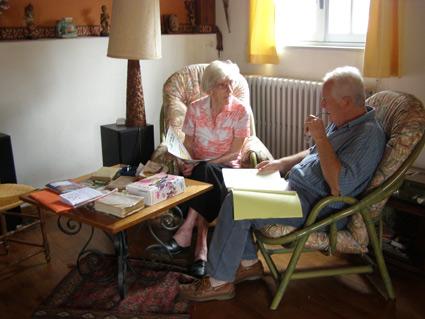 Mlle Bridier, Présidente du CPNS de 1980 à 2000 avec Benoît GRAUX, président actuel