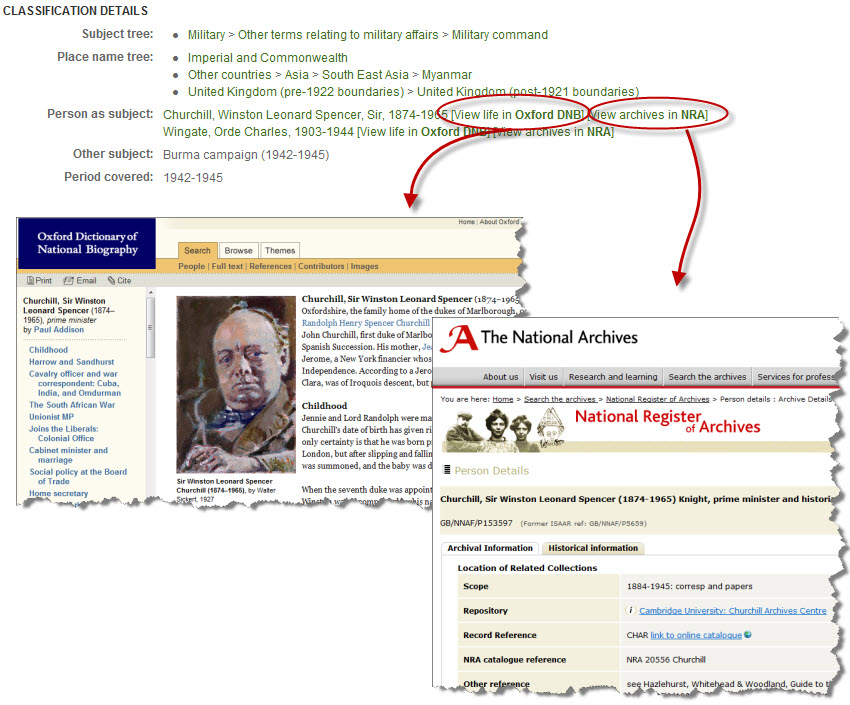 Link to ODNB and NRA