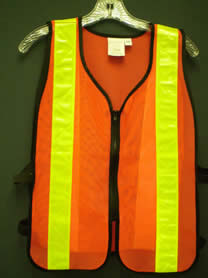Economy Vest Orange with Yellow