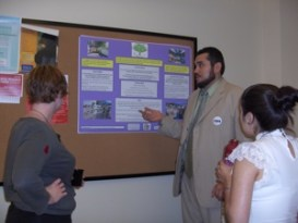Jorge Presenting Research Poster