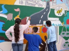 Students Painting