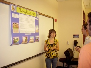 Lauren Presenting Research Poster
