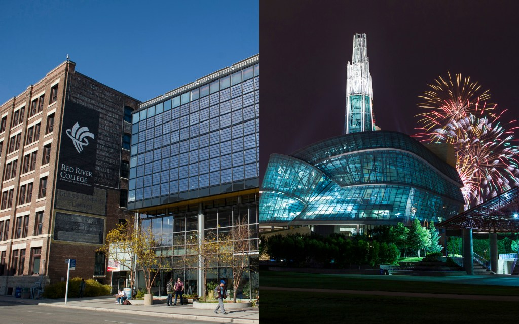 Manitoba Communicator of the Year award recipients: Red River College and the Canadian Museum for Human Rights