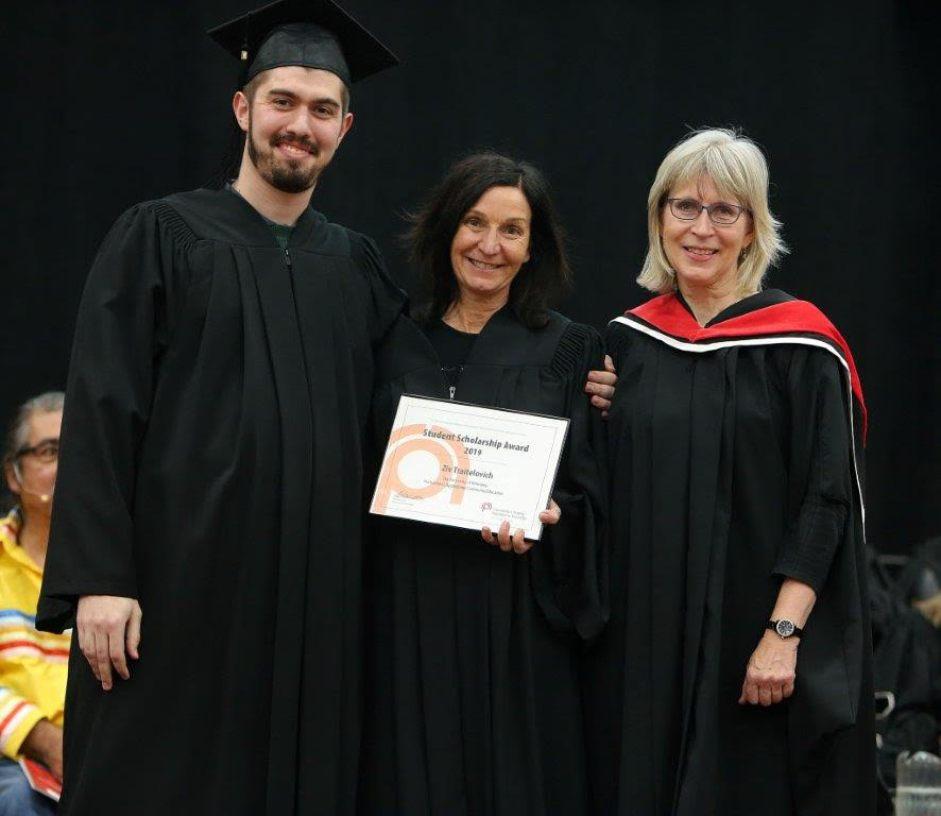 Ziv Traitelovich, CPRS University of Winnipeg Award winner