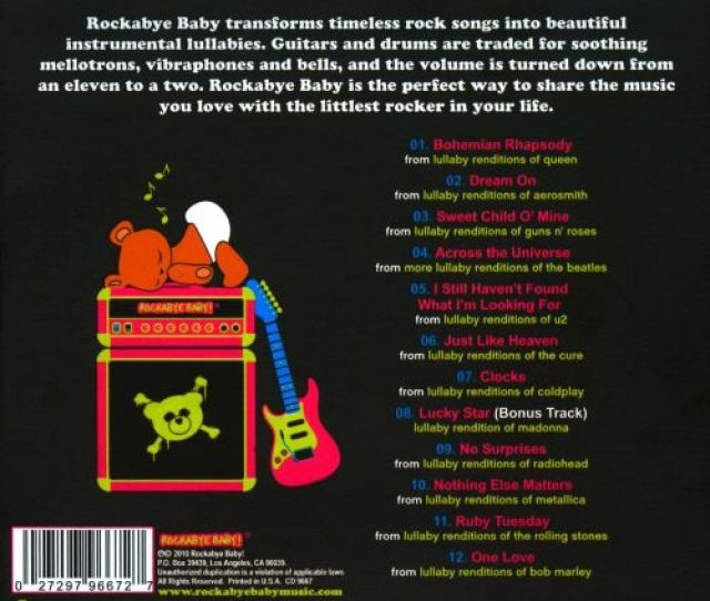 Lullaby Renditions Of Babys Favorite Rock Songs