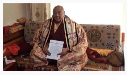 十七世大寶法王噶瑪巴的上師公保都穆曲杰法王確認敬賀南無第三世多杰羌佛