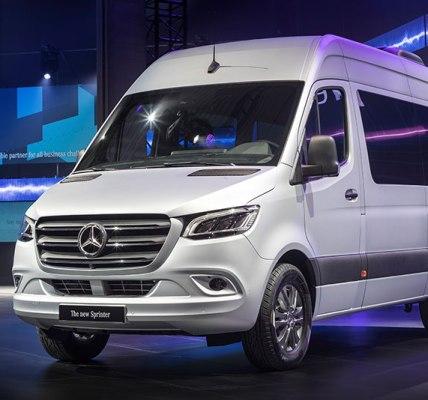 Mercedes Benz Sprinter Van 2019 en exhibición