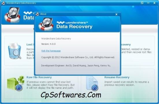 WonderShare Data Recovery Registration Code & Serial Key
