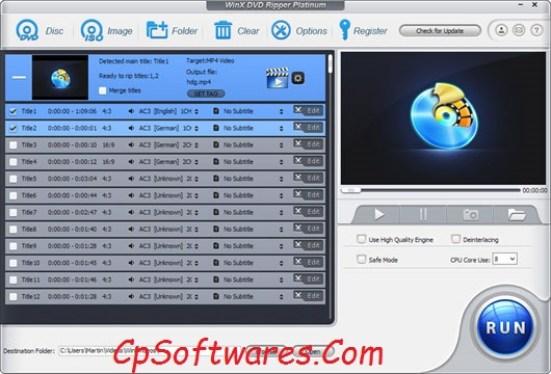 WinX DVD Ripper Platinum License Code