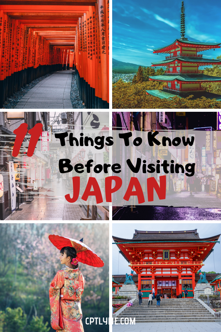 Are you planning to visit Japan soon? If you're not sure what to expect for your trip here are 11 things you should know before travelling to Japan. From fun facts and customs and uses there are a few things to know before you head first to Japan. This way you can fully enjoy your Japanese adventure! #JApan #traveldestinations